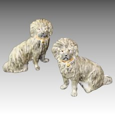 Pair Staffordshire Ware Kent Porcelain Dogs