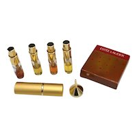 Estee Lauder Golden Luxury Perfume / Travel Spray Atomizer Set