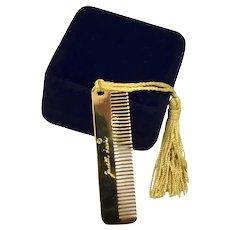 Judith Leiber Fine Tooth Gold-Tone Tassel Comb  Purse Fashion Accessory