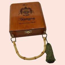 Artisan Handmade Classic Hemingway Cigar Box Handbag Signed