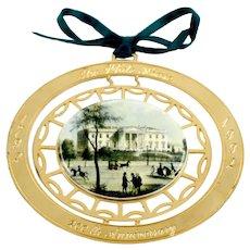 White House 1992 Commemorative 14K Gold Finish Christmas Ornament