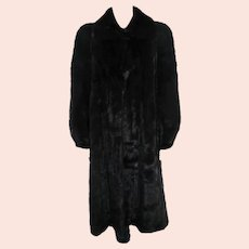 Couture Fur Mary McFadden Full Length Natural Ranch Mink Coat Mint