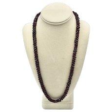 Chunky Bohemian Pryope Garnet Cluster Single Strand Necklace