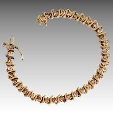 Estate Ladies 14K Gold 3.5 Carat Diamond Tennis Bracelet