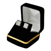 1.50 Carat Diamond 14K Gold Princess Cut Cube Stud Earrings Pierced