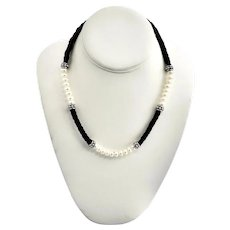 Sterling Silver Honora Freshwater Cultured Pearls Leather Braided Sections