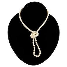 Cultured Pearl 14K Clasp Single Strand Opera Length Necklace