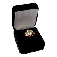 Aquamarine 1.75 Ct Solitaire Gemstone 10K Gold Solitaire Fashion Ring