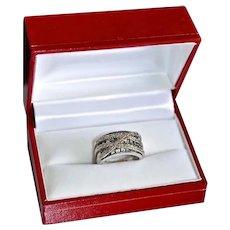 14K Gold Anniversary Ring 1.91 Carat Green Tsavorite Garnet Gemstone Band