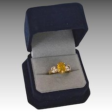 Fancy 1.30 Carat Diamond Sapphire (2.84 cts)14K Gold Engagement Ring