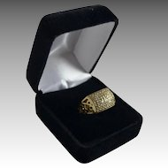 Estate Ladies 14K Gold 1 Carat Diamond Fashion Anniversary Ring