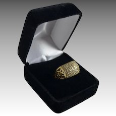 Estate Ladies 14K Gold 1 Carat Diamond Fashion Anniversary Ring