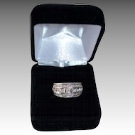 Beautiful 18K Gold White Anniversary Channel Set Anniversary Ring