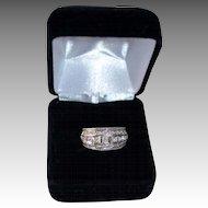Beautiful 18K Gold White Anniversary Channel Set Anniversary Ring