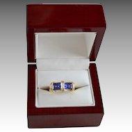 Custom Bluish Purple 2.30 Carat Tanzanite Gemstone  14K Gold Ring
