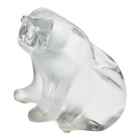 Lalique, France Large Crystal Polar Bear Figurine Sculpture Signed