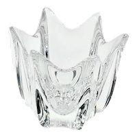 Orrefors Swedish Crystal Tulip Urn / Vase Signed