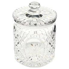 England Royal Doulton Brilliant Cut Lead Crystal Large Biscuit Jar