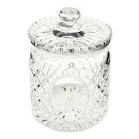 Royal Doulton English Brilliant Cut Lead Crystal Large Biscuit Jar