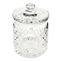Royal Doulton English Brilliant Cut Lead Crystal Large Biscuit Jar