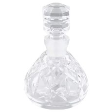 Vintage Waterford Lismore Faceted Crystal Perfume Bottle