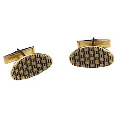 Elegant AVEDON Gold Vermeil Mens Modernist Cufflink