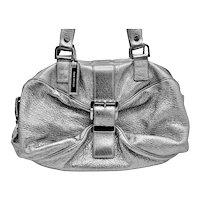 Designer MK Metallic Crinkled Pebble Leather Tote Handbag
