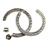 Diva Style Earrings Embossed John Hardy X-Large Sterling Hoop