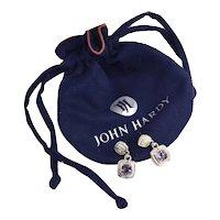 John Hardy Cabochon Set Amethyst Sterling Silver Drop Earrings