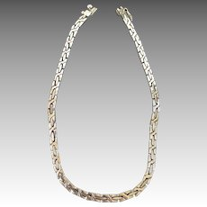 Mexico Byzantine Heavy Decorative Link Chain Necklace
