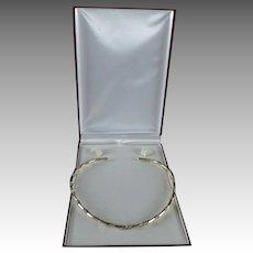Artisan Mimimalist Style Sterling Silver Decorative Choker necklace