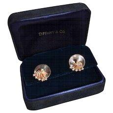 Estate Tiffany & Co 14K Gold Freshwater Pearl Trembler Earring