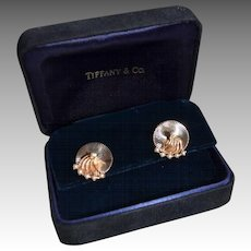 Estate Tiffany & Co 14K Gold Freshwater Pearl Trembler Earring