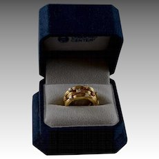 TIFFANY & CO 18K Gold Diamond Wedding Anniversary Band