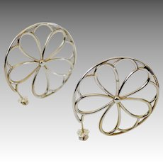 Flirty Tiffany Sterling Silver Pin-Wheel Pierced Earrings
