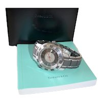 Tiffany Mark T-57 Resonator Chronograph Analog Divers Sports Watch