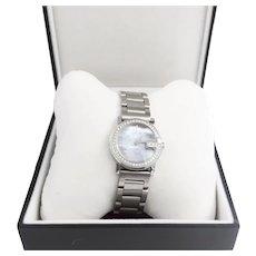 Gucci Diamond Bezel 0.70 Carats Series 101L Stainless Bracelet Watch