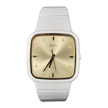 Ladies Rado Ceramic Diamond Jubilee Ergonomic Bracelet Watch