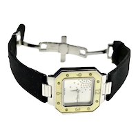 Mauboussin Paris, Silver, Mother of Pearl, Diamond Deco Style Watch