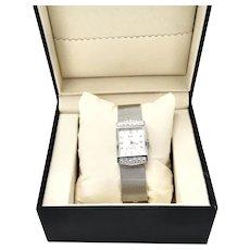 Business Glitz KJL Stainless Mesh Rhinestone Crystal Watch