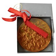 Lalique Noel Christmas Collection Mistletoe  Limited Edition Amber