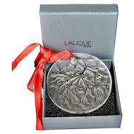 Limited Edition Lalique Noel Christmas Mistletoe Ornament 1988