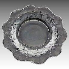 Estate Vintage LALIQUE France Crystal Coupes Honfleur Centerpiece