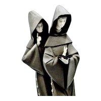 Lladro Spain 15 Inch Tall Franciscan Monk In Prayer 1982