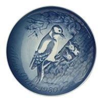 B & G Copenhagen Mother's Day 1980 Porcelain Collectible Plate