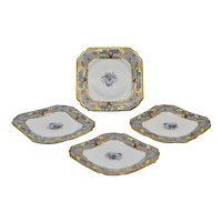 Vintage Redfern and Drakeford Balmoral England Bone China 4 Desert Plates