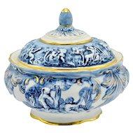 Vintage R Capodimonte Italy Romanesque Cherub Porcelain Bowl