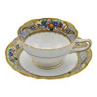 Redfern & Drakeford English Bone China Ornate Floral Fruit Tea Cup