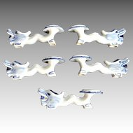 Chinese Porcelain Blue White Dragon Chopstick Rests