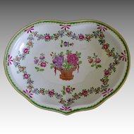Carl Thieme Dresden Porcelain Hand-Painted Floral Bowl